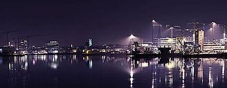 Aarhus_docklands_by_night